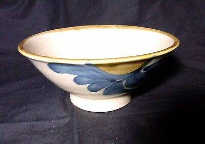 Japanese Vintage Tea Ceremony Matcha Chawan Bowl Pottery Flower Painted Signed