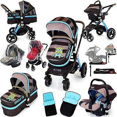 iSafe Luxury 3 in 1 Baby Pram Travel System iDiD iT (Limited Edition Design)
