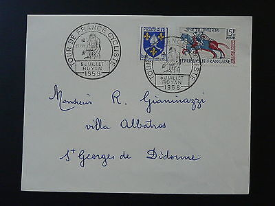 bicycle cycling Tour de France 1958 postmark on cover