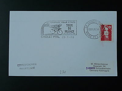 bicycle cycling Tour de France 1998 postmark on cover