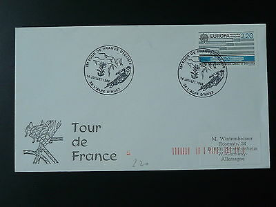 bicycle cycling Tour de France 1988 postmark on cover