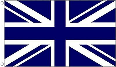 NAVY BLUE and WHITE UNION JACK FLAG 5' x 3' UJ UK Sports Team Club Flags