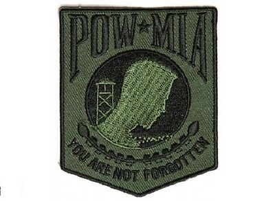 Pow Mia Subdued Green Veteran Military Embroidered Patch