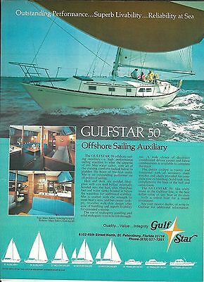 1975 Gulfstar 50 Offshore Sailing Auxiliary Yacht Color Ad