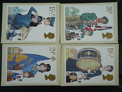 youth organizations scout set of 4 maximum card PHQ Great Britain 1982