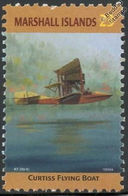 CURTISS FLYING BOAT Seaplane Aircraft Stamp (Marshall Islands)