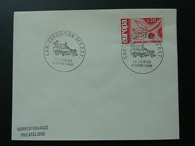 postal history mail coach horse diligence postmark on cover 1966
