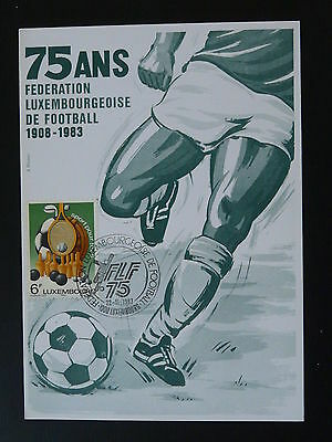 federation of football maximum card Luxembourg 1983