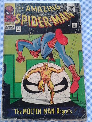 Amazing Spider-Man 35, (1966) 2nd App of Molten Man