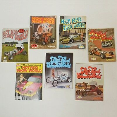 Lot of 7 Hot Rod Show World Annuals - 1972 1973 1975 1978 1981 1982 1984