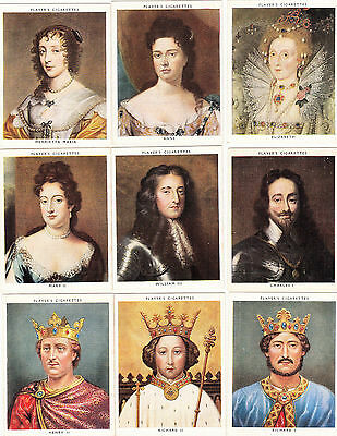 Cigarette Cards John Players Set Large Size Kings and Queens
