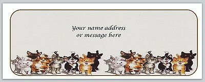 30 Personalized Return Address Labels Cats Buy 3 get 1 free (bo668)