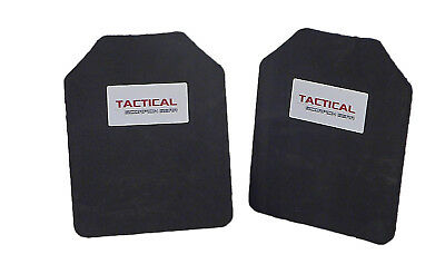 Tactical Scorpion Body Armor Plate Trauma Pads Backers Pair 10mm 8x10 For AR500