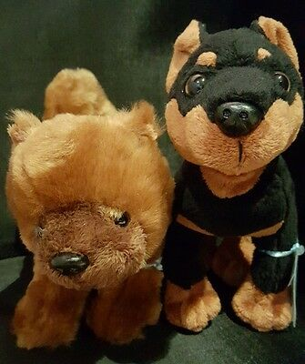 WEBKINZ  LOT of 2 DOGS  - MINI PINSCHER DOG +  CHOW CHOW -  NWT
