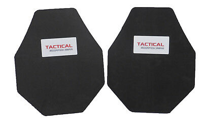 Tactical Scorpion Body Armor Plate Trauma Pads Pair 10mm 10x12 Mod For AR500