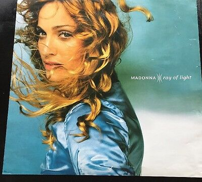 """MADONNA Poster  """"Ray of Light"""" Album Cover 24""""x24"""" Promo Record Store Used"""