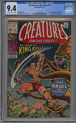 Creatures On The Loose #10 Cgc 9.4 Off-White To White Pages 1St King Kull