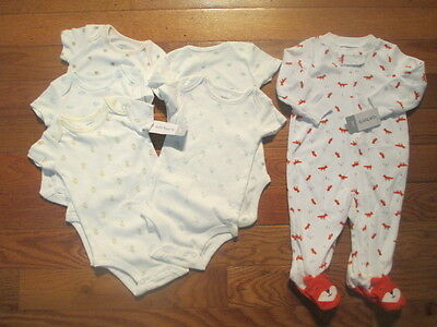 6 piece LOT of baby boy fall/winter clothes size 6 months NWT