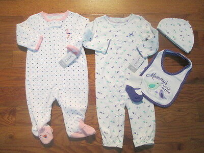 5 piece LOT of baby girl fall/winter clothes size 6 months NWT