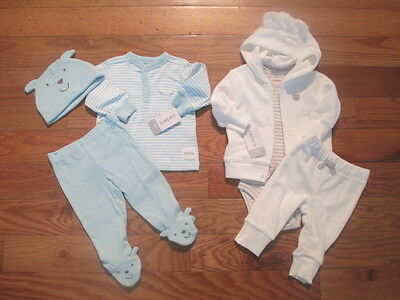 6 piece LOT of baby boy fall/winter clothes size 3 months NWT
