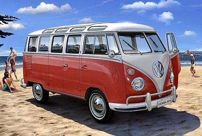 Volkswagen T1 SAMBA BUS 1/24 scale skill 4 Revell plastic model kit#7399