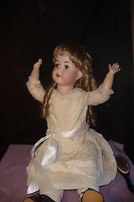 "Large Bisque Antique Reproduction ""simon Halbig"" German Character Baby Doll"