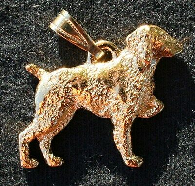 BRITTANY Dog 24K Gold Plated Pewter Pendant Jewelry USA Made