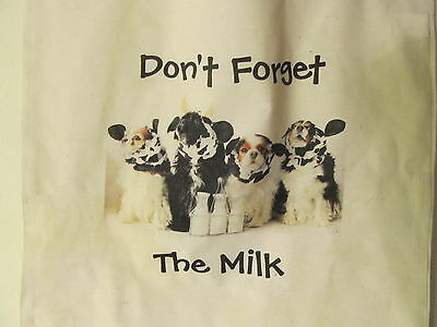 Dont Forget The Milk!  Lightweight Tote Bag Cavalier King Charles Spaniels