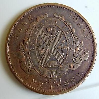 LC-9A2 Lower Canada Colonial Canadian 1 Penny - Doux Sous - City Bank Token