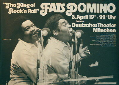 Fats Domino Concert Tour Poster 1976 Kieser Very Rare
