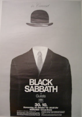 Black Sabbath Concert Tour Poster 1975 Ozzy