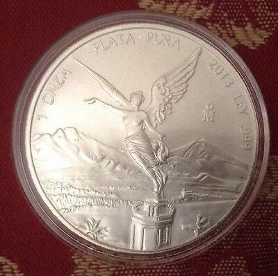 2013 Mexico 🇲🇽 Libertad, 1oz 999 Fine Silver UNCOLOURED