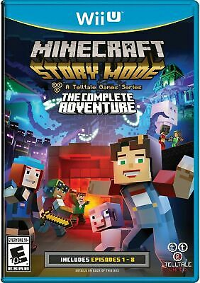 Minecraft: Story Mode - The Complete Adventure [Nintendo Wii U, NTSC, Eps 1-8]