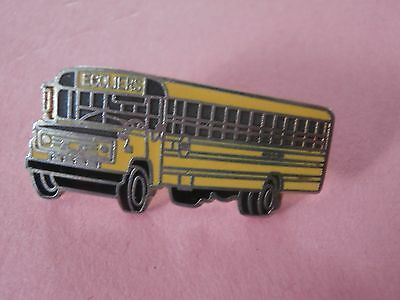 """Yellow School Bus """"Ecoliers"""" (Students in French) Lapel Pin"""