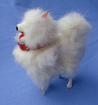 Antique Fur Samoyed Spitz Dog French Fashion Doll Germany 5""