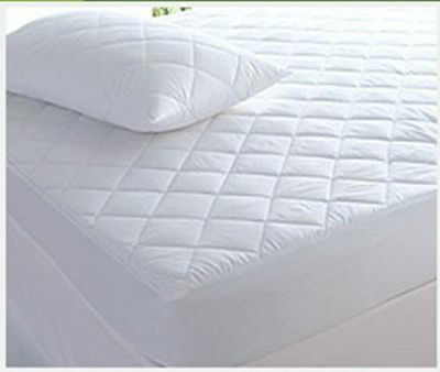 NEW Quality Quilted Mattress Protector Fitted Cotton Cover Topper Ant Allergy