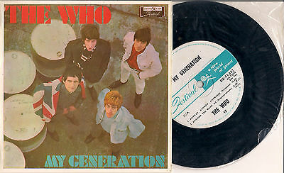 "THE WHO RARE NEW ZEALAND PICTURE COVER EP ""MY GENERATION"" 4 Track EP TOWNSEND"