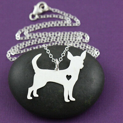 Chihuahua Standing pendant necklace dog collectible No.80