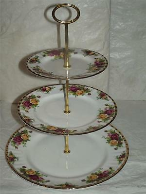 Royal Albert Bone China Old Country Roses 3 TIER CAKE STAND 1st Quality Boxed
