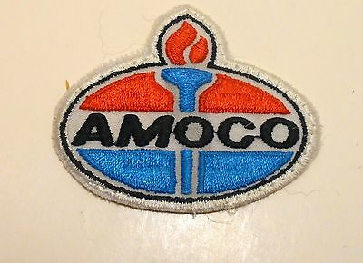 "Amoco Gasoline Patch Embroidered Oil 3"" inches  Vintage Torch"