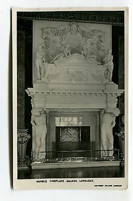Longleat, Wiltshire - stately home - marble fireplace, saloon - 1928 postcard