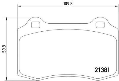 MDB1315 MINTEX Brake Pad Set disc brake front