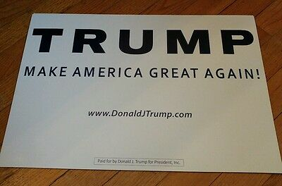 OFFICIAL DONALD TRUMP FOR PRESIDENT 2016 CAMPAIGN RALLY SIGN RALLY SIGN primarys
