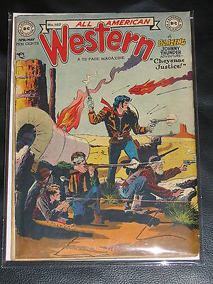 All American Western #107 G+/vg- Johnny Thunder 1949 Kubert Art-Single Owner