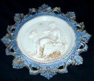 Westmoreland Milk Glass Cupid and Psyche Plate # 8