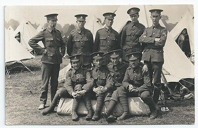 WW1 Artists Rifles Group Photo in Camp TF Unused Real Photo Postcard