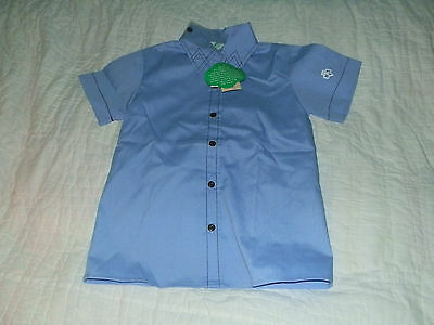 Brownie Girl Scout Short Sleeve Blue Uniform Blouse - Size 7 - NEW NWT