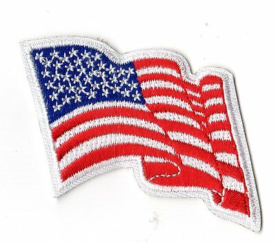 Wavy American Flag Girl Scouts Uniform Badge Patch~NEW