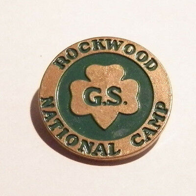 Vintage Girl Scout Pin ~ Rockwood National GS Camp~Lot 20160831