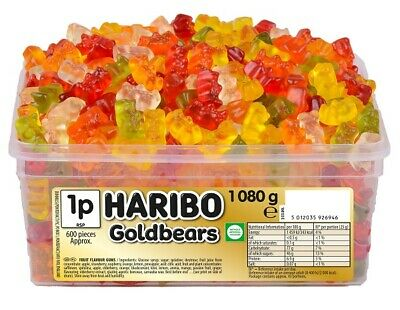 Haribo Gold Bears 1 Tub Of Retro Sweets Candy Treats Party Box